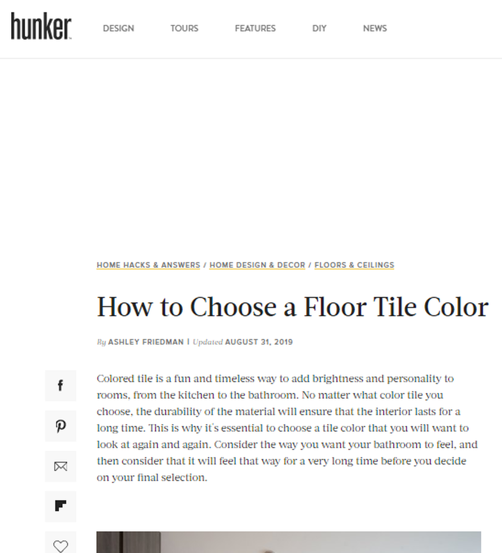 How to Choose a Floor Tile Color