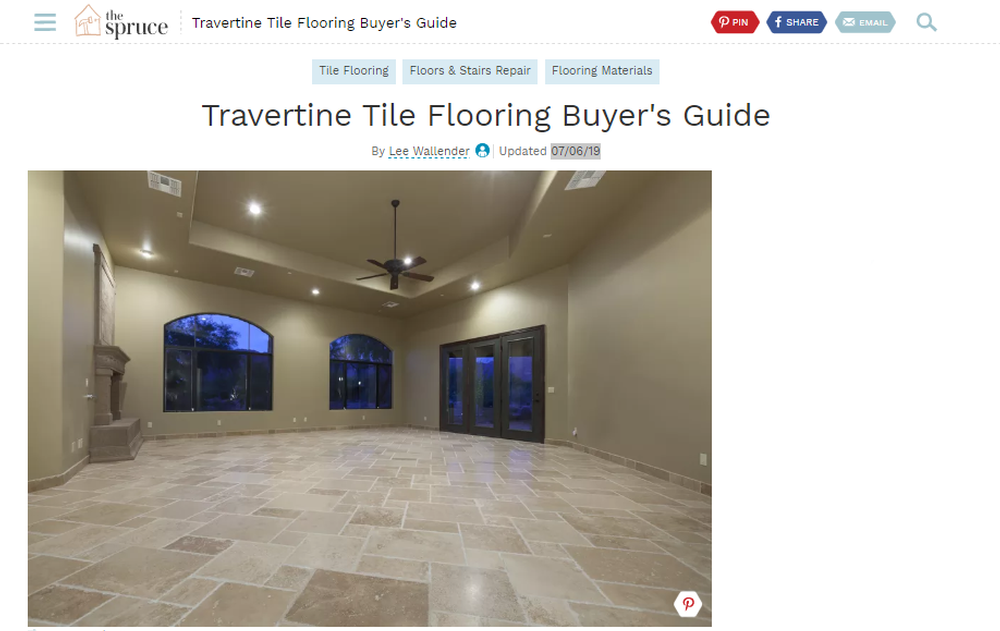 Travertine Tile Flooring Buyer s Guide