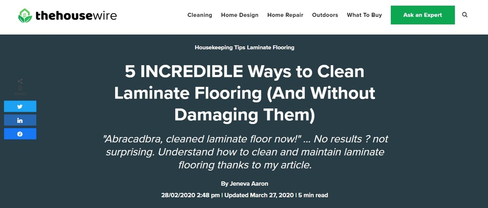 5 INCREDIBLE Ways to Clean Laminate Flooring  And Without Damaging Them  - The HouseWire.jpg