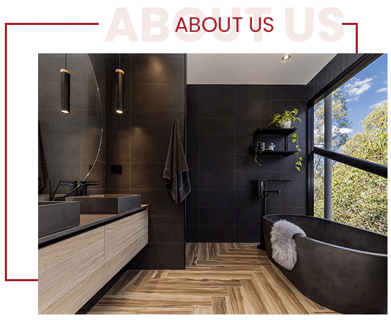 Modern Bathroom with Porcelain Hardwood Look Alike Tiles by Stittsville Flooring Inc. - Flooring Specialists Stittsville